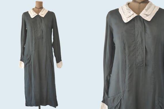 1930s Black Uniform with White Collar size M/L