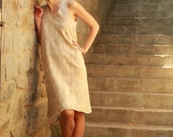 Sale Sleeveless Tunic Dress, Wool Tunic, Sexy Short Dress, Rustic Wedding Dress, Resort Dress, Rustic Clothing, Country Dress, Casual Dress