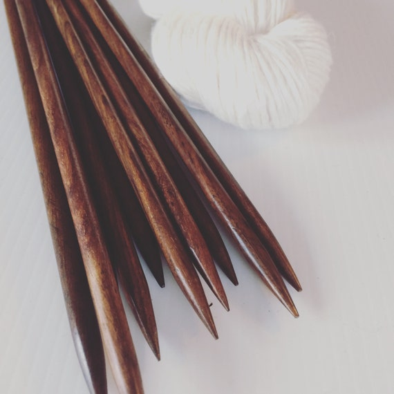 Extra Long Knitting Needles Uk : Handmade rosewood knitting needles extra chunky by