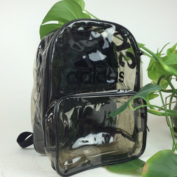 Reserved // 90's Clear Adidas Large PVC See Through Backpack