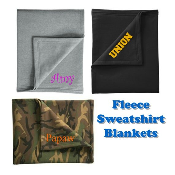 Fleece Sweatshirt Blanket in 3 Colors