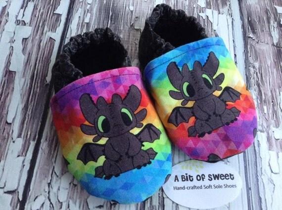 Rainbow Dragon Soft Sole Shoes Size 18-24m