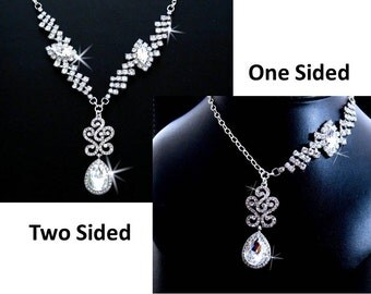 Rhinestone Statement Necklace, Prom Statement Necklace, Special Occasion Jewelry, Rhinestone Necklace
