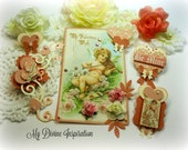 G45 Sweet Sentiments Handmade Scrapbook Paper Embellishments, Paper Flowers for Scrapbooking, Cards, Mini Albums, Tags Paper Crafts
