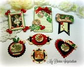 G45 Children's Hour February / Valentine's Handmade Paper Embellishments for Scrapbooking Layouts Cards Mini Albums Tags Paper Crafts