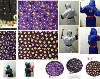 Silk Satin Kimono Boxing Robe in Silk Satin Cotton for Kids Birthday Sleepwear Baby Halloween child robe shorts hood personalized robe sash