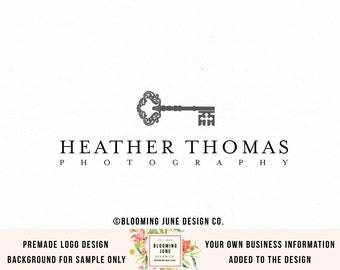 vintage key logo premade logo photography logo photographers logo realty logo realtor logo real estate logo interior design logo watermark
