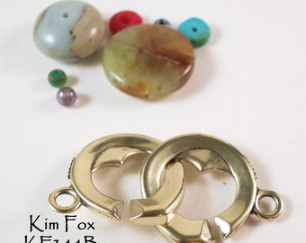 Heart Shaped Sister Hook Clasp in Golden Bronze by Kim Fox - Secure and Simple