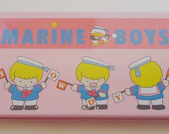 Marine Boys Pencil Case.80s and Kawaii