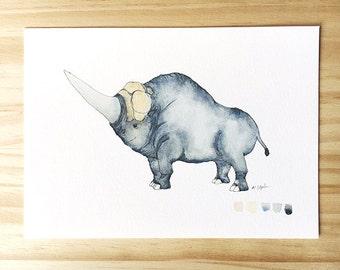 Fantastic Beasts Erumpent 5x7 Art Print