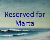 Resereved for Marta set of three watercolour shell paintings sand dollar, sea urchin and starfish