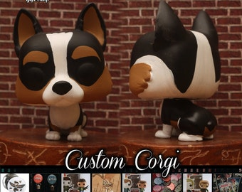 Tri Colored Corgi - Custom Funko pop toy