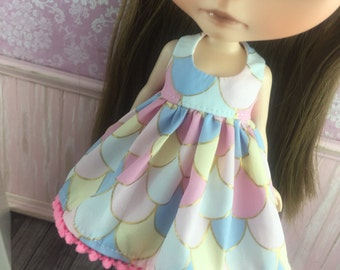 Blythe Dress - Pretty Pastels with Gold