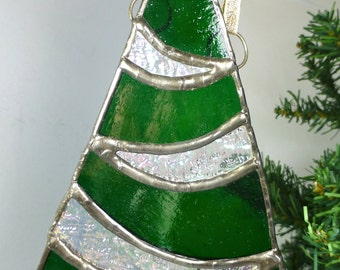 Stained Glass Christmas Tree festive ornament
