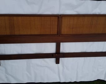 mid century walnut king bed headboard