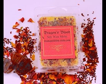 Dragon's Blood Soy Wax Melts  , Tea Light Candles,  Healing, Banishing, Sexuality Spiritual Force , tranquilityy