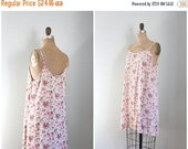 20% SALE / 90s floral print rayon slip dress - vintage soft grunge dress / 80s rayon dress - kinderwhore dress / pink rose print dress - 90s