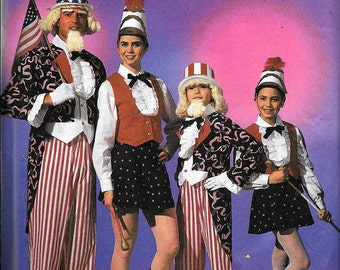 Simplicity 7366 Adult Majorette Uncle Sam Costume Sewing Pattern UNCUT Fourth Of July Patriotic ALL SIZES