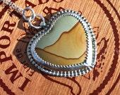 Wild Horse Picture Jasper Pendant in sterling silver. Wild horse canyon jasper, jasper sterling pendant, southwestern jewelry, santa fe