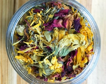 Facial Steam Herbs for clear pores, soft skin, relaxation, and glowing skin