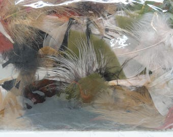 Darice Feathers, Colorful Craft Feathers, Bag of Feathers, Fly Fishing, Jewelery Supplies