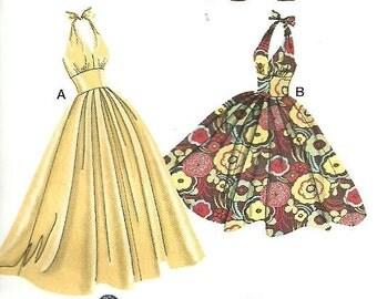 Simplicity pattern 3823 Retro 50's Style Halter Dress Full Skirt, Sz 6-14