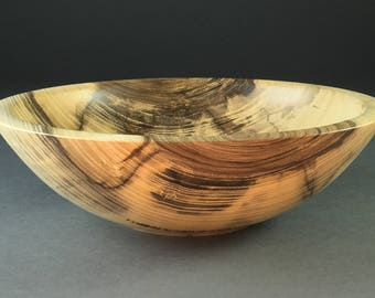 Highly Figured Hackberry Wood Bowl  #1489