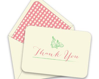BOX OF 12 Woodland Thank You Notes