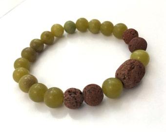 Jade essential oil diffuser bracelet