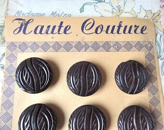 """French Antique  Buttons Store Cards """"HAUTE COUTURE""""  French chic"""