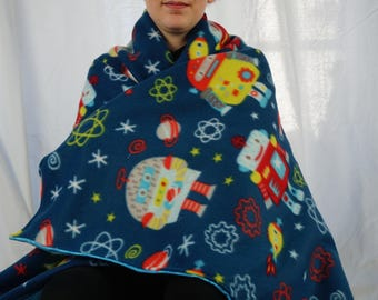 Robots fleece blanket, throw blanket, lap blanket