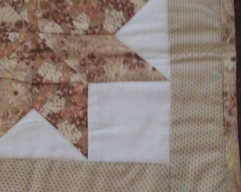 Gold and brown table runner 2 star long