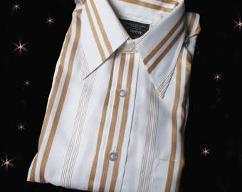 Men's Vintage Dress Shirt - 70s - Unused 1970s Button Down - Long Sleeves - Mint Condition - 15 32