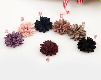 """30pcs 3cm 1.18"""" wide black/purple/gray/navy hair bag shoes flower appliques patches  BA48AU1178FE free ship"""