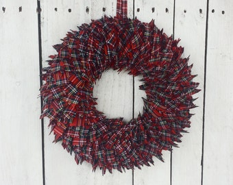 Tartan wreath, plaid wreath, dooswreath, christmas wreath