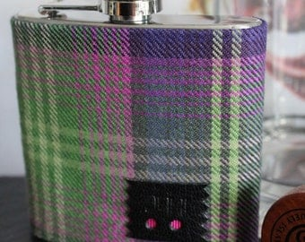 Ladies gift personalised tartan hipflask, mothers day gift