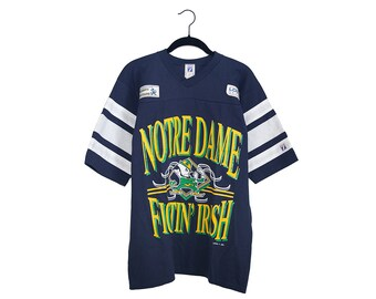 Vintage Notre Dame Fighting Irish Logo 7 New Old Stock W/ Tags College Football T-Shirt, Made in USA - Large