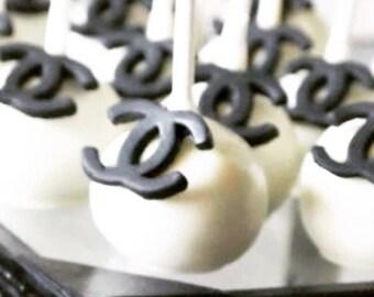 Chanel Designer CC Cakepop, Cakeball Truffles