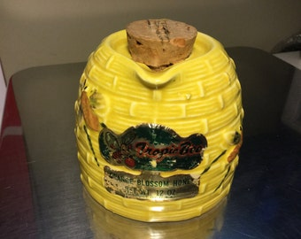 Tropic Bee Orange Blossom Honey Jar Pitcher, with cork stopper, from Edgewater Florida