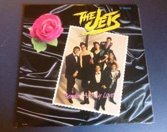 The Jets Sendin' All My Love Vinyl Record LP MCA-23887 MCA Records 1988
