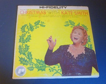 Christmas With Kate Smith Vinyl Record LP High Fidelity RX-1 Rondo Records 1959