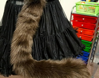 Dark Brown Kitty Tail