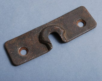Antique brass plate,  key hole escutcheon