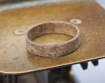 Antique brass primitive ring. size 7