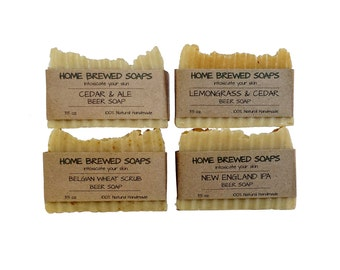 Beer Soap - Beer Soap Gift Set - IPA Soap - Beer Soap - Natural Soap - Soap for Men - Craft Beer Soap - Cool Beer Gifts - Grooming Gifts