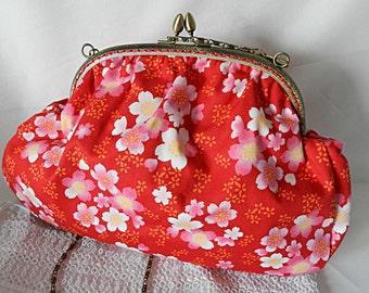 Retro floral fabric bag