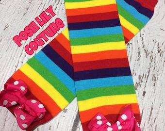 Rainbow leg warmers, rainbow Leg Warmers,  girl Leg Warmers, smash cake leg warmers, baby girl Leg Warmers,