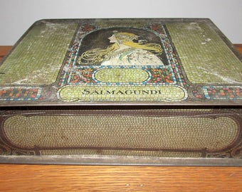 Vintage Salmagundi Chocolate Tin