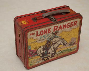 Adco Lone Ranger 1954 Metal Lunch box