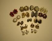 Vintage Ohrringe, Menge von 15 Paar verkauft zusammen